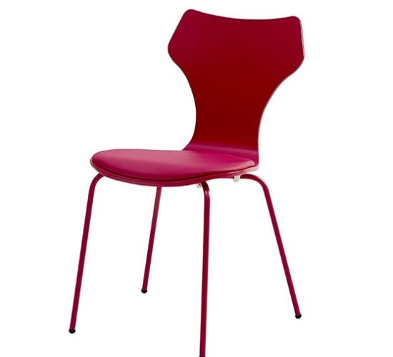 Lolly Chair with Padded Seat - Red
