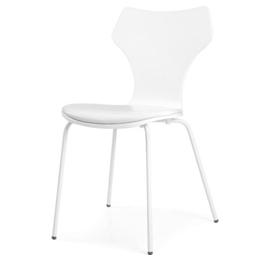 Lolly Chair with Padded Seat - White