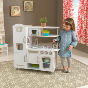 Vintage Wooden Play Kitchen - White