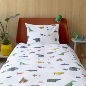 Origami Animal Duvet Set - White (Single)