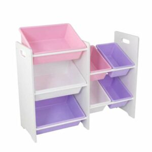 7 Bin Storage Unit - White