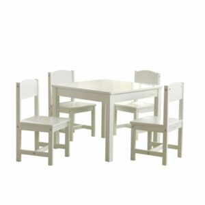 Farmhouse Play Table & 4 Chair Set - White