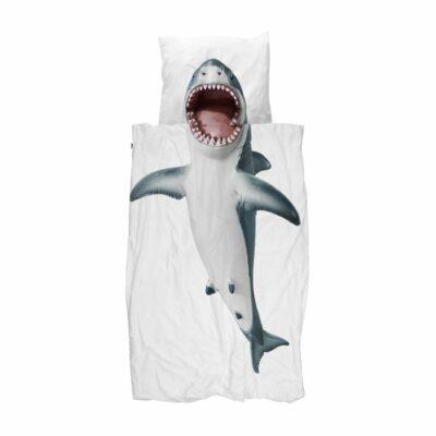 Shark Duvet Set - White (Single)