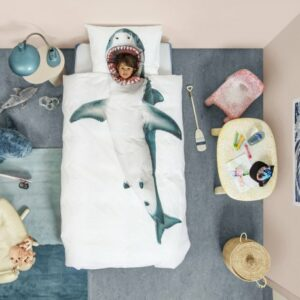 Shark Duvet Set - White (Single)