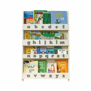 Wooden Alphabet Bookcase - Grey by Tidy Books®