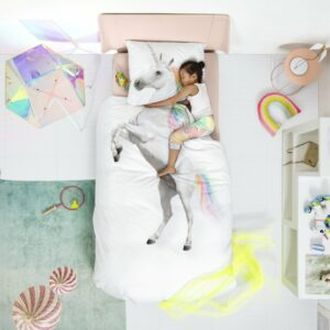 Unicorn Duvet Set - White (Single)