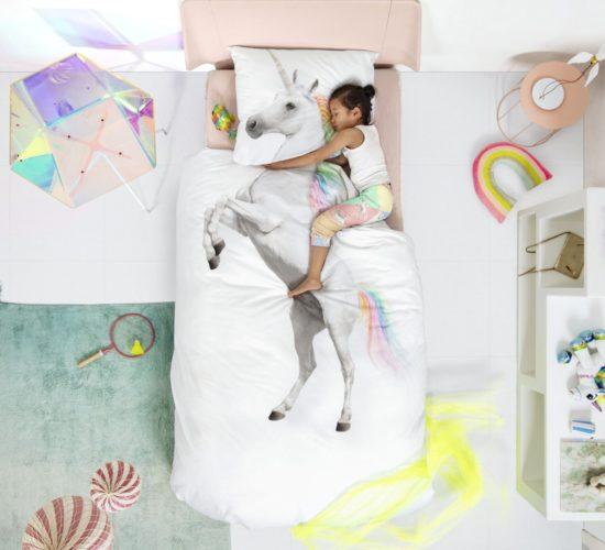 Unicorn Duvet Set - White (Single)