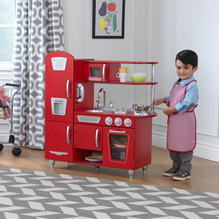 Vintage Wooden Play Kitchen - Red by KidKraft