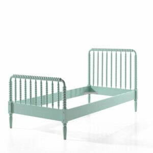 Alana Single Bed, Solid Wood - Mint