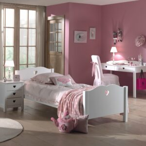 Amori Single Bed - White