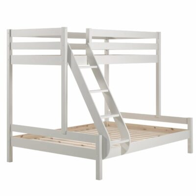 Family Double Bunk Bed, Solid Wood - White
