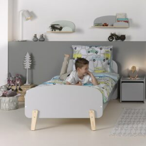 Hallie Single Bed - Cool Grey