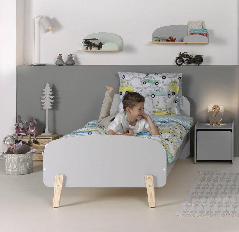 Hallie Single Bed - Cool Grey