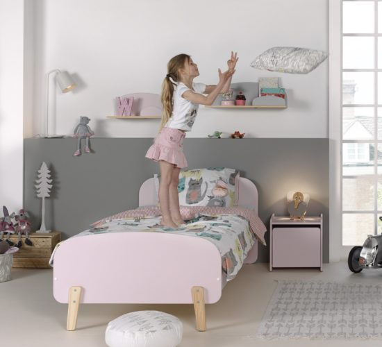 Hallie Single Bed - Dusty Pink