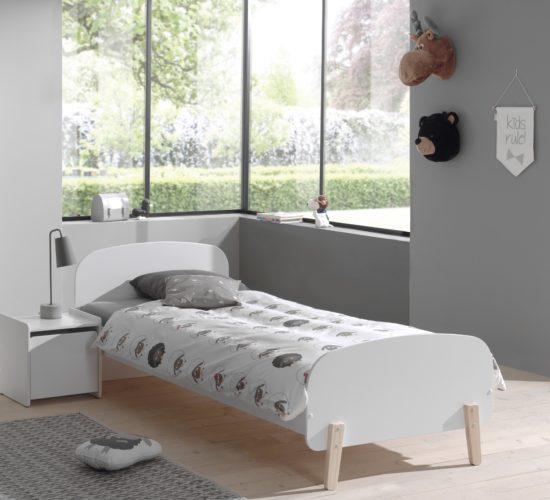 Hallie Single Bed - White
