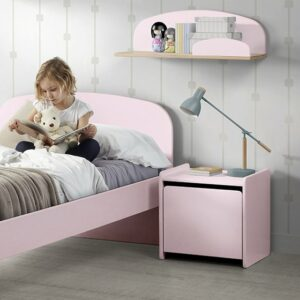 Hallie Nightstand - Dusty Pink