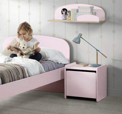 Hallie Nightstand - Dusty Pink