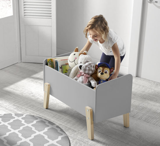 Hallie Toy Box - Cool Grey