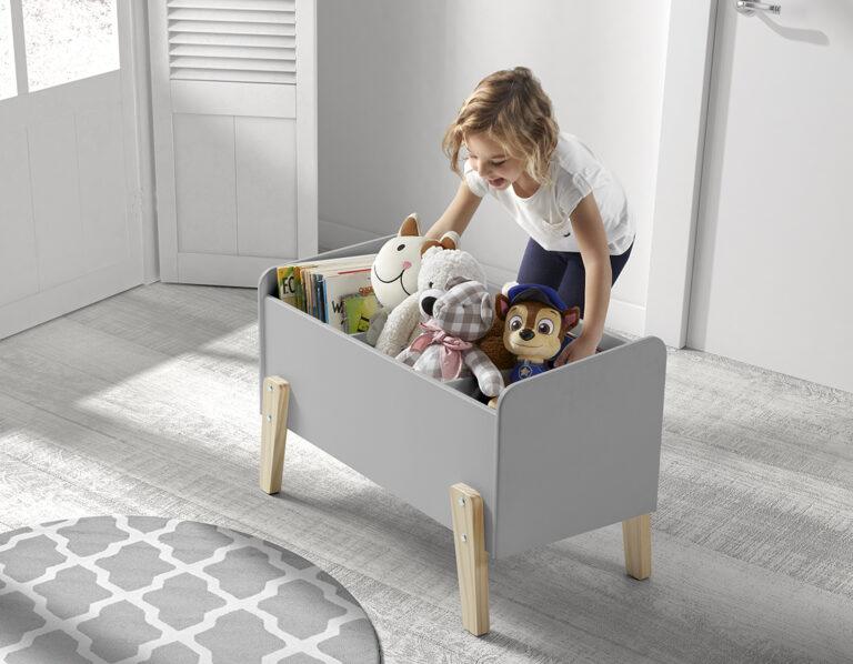 Hallie Toy Box - Cool Grey
