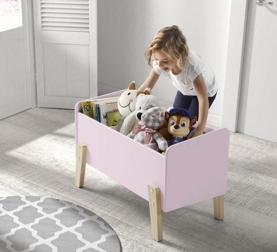 Hallie Toy Box - Dusty Pink