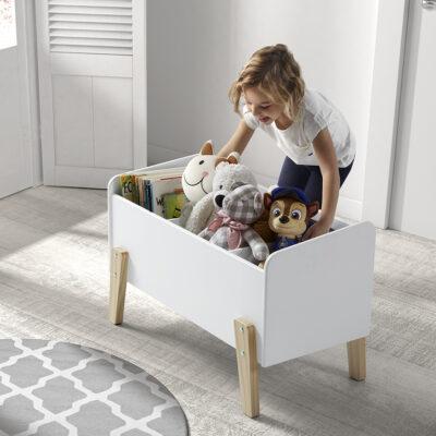 Hallie Toy Box - White