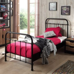 Oxford Metal Bed incl Slats - Black (Single)