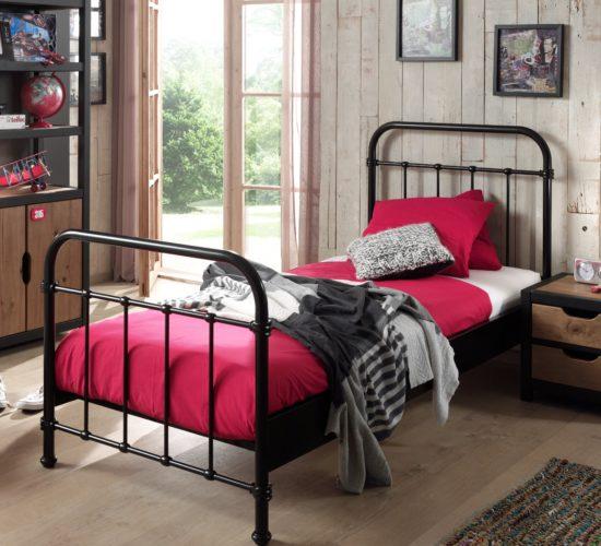 Oxford Metal Bed incl Slats - Black (Single)