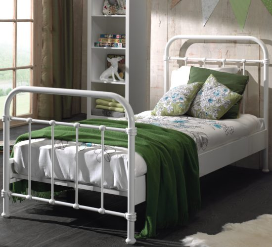 Oxford Metal Bed incl Slats - White (Single)