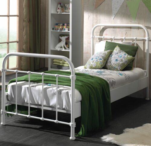 Oxford Metal Bed incl Slats - White (Single)