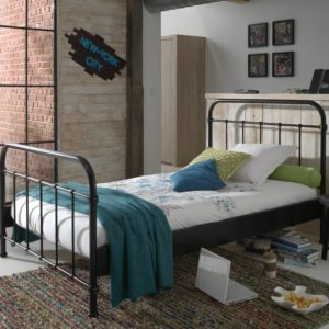 Oxford Metal Bed incl Slats - Black (3/4)