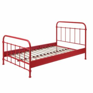 Oxford Metal Bed incl Slats - Red (3/4)