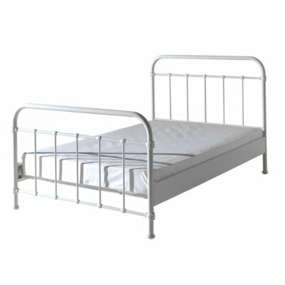 Oxford Metal Bed incl Slats - White (3/4)