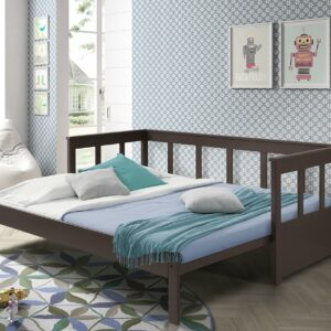 Pennington Extendable Bed, Solid Wood - Taupe