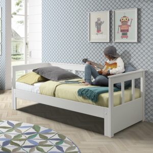 Pennington Extendable Bed, Solid Wood - White