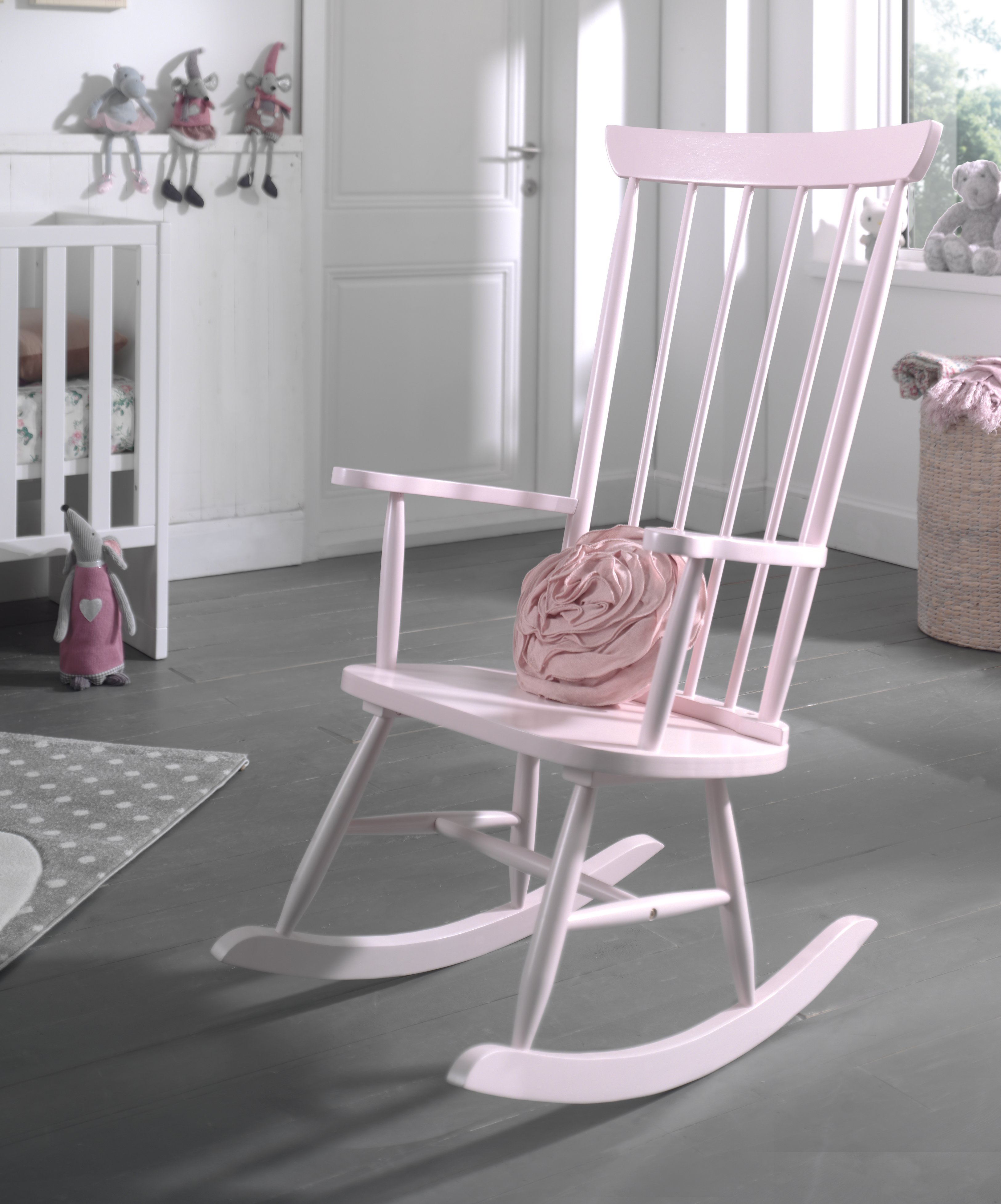 Marvelous Rocking Chair Solid Wood Dusty Pink Download Free Architecture Designs Scobabritishbridgeorg