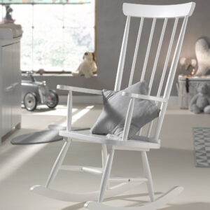 Rocking Chair (Solid Wood) - White