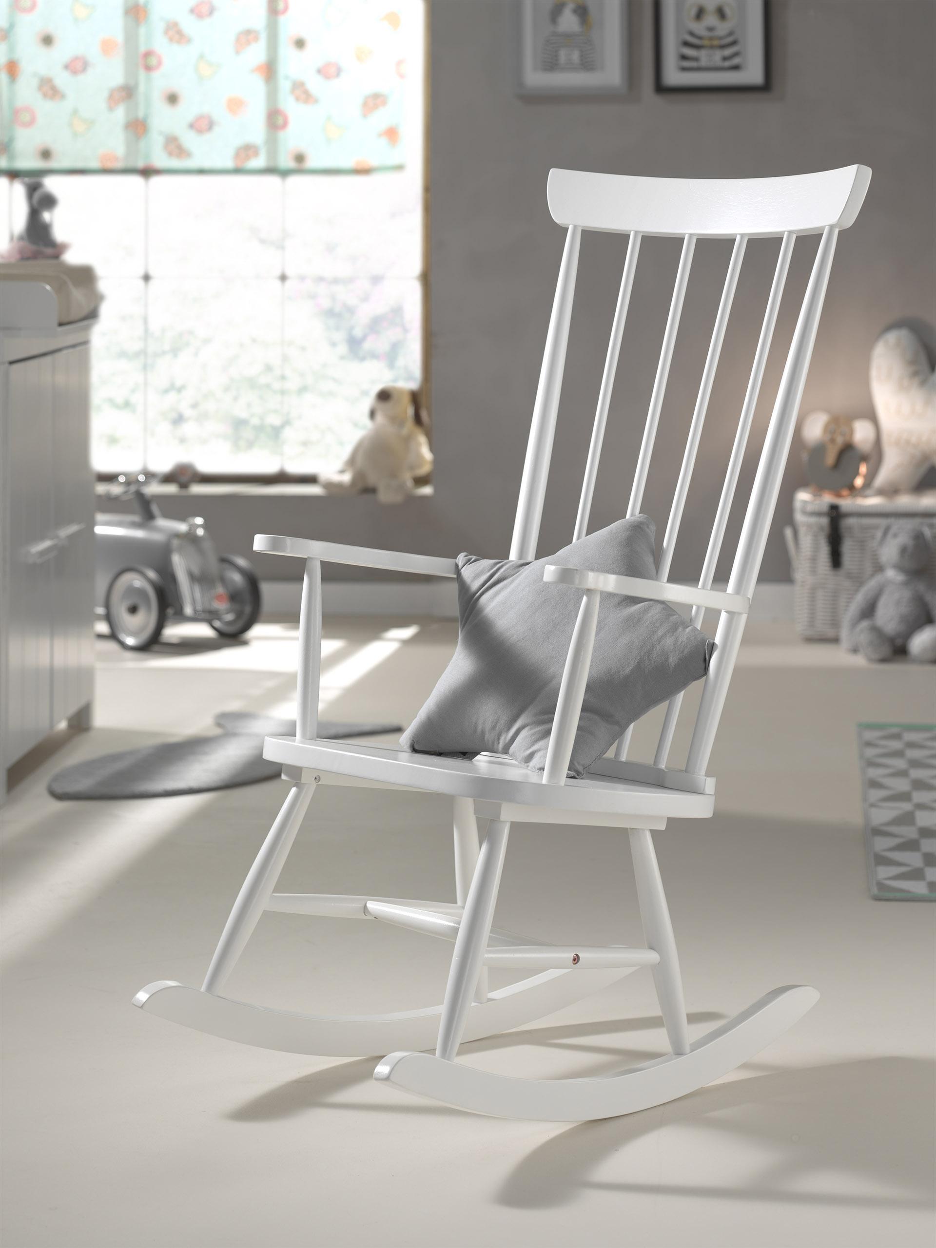 Terrific Rocking Chair Solid Wood White Download Free Architecture Designs Scobabritishbridgeorg