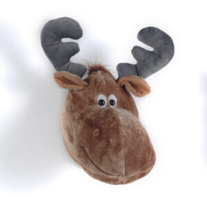 Moose Plush Head