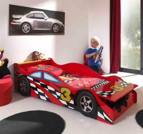 Racing Car Toddler Bed with Storage
