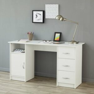 Buster Study Desk - White