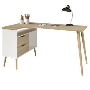 Alba Corner Desk - White