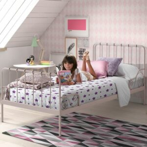 Alice Metal Bed incl Slats - Rose (Single)