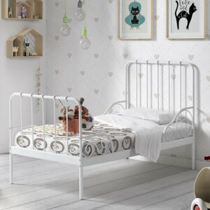 Alice Metal Bed incl Slats - White (Single)