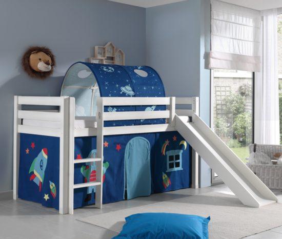 Dakota Midsleeper Bed with Slide - Astro