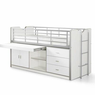 Devon Compact Mid Sleeper Bed - White
