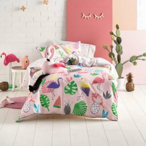 Flamingo Beach Duvet Set (3/4)