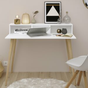 Larsen Study Desk - White