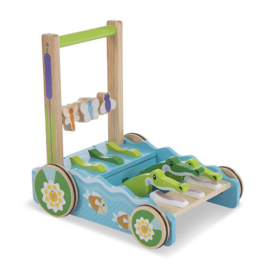 First Play Chomp & Clack Alligator Push Toy