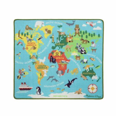 Round The World Travel Activity Rug