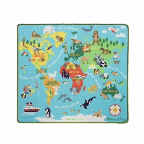 Round The World Travel Activity Rug